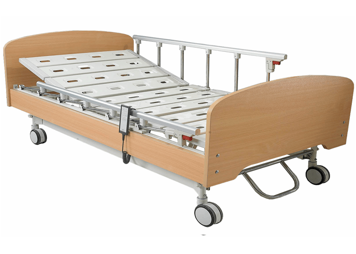 Kangshen Medical Brand wood frame electric hospital bed for home use three