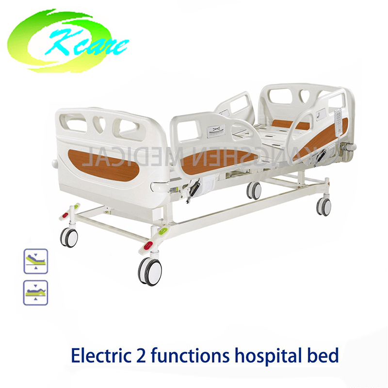 Central Lock Brake Castor Electric 2 Functions Hospital Bed GS-818c