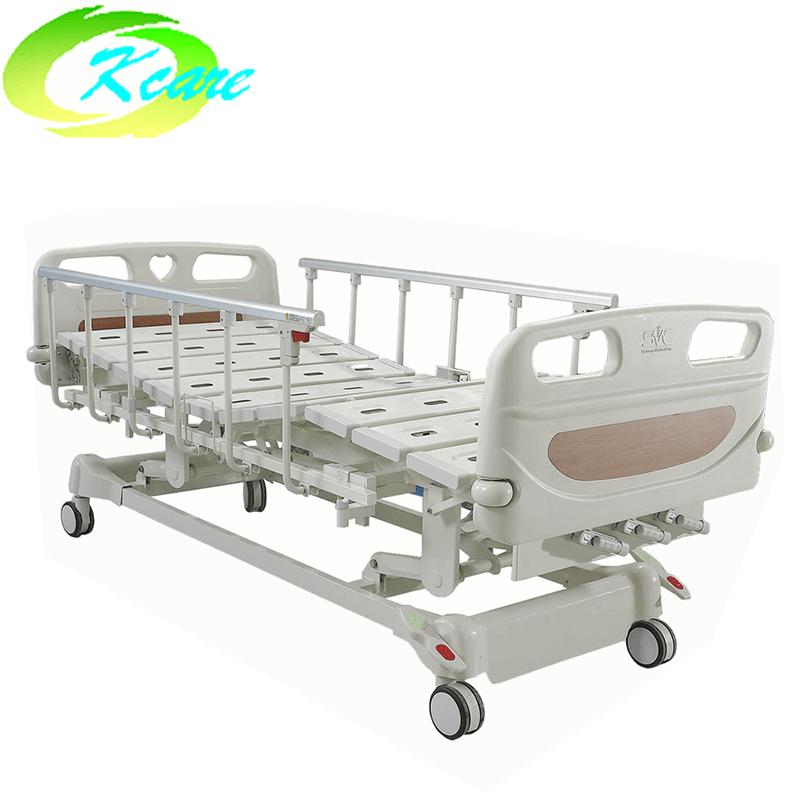 Kangshen Medical Central Lock Manual 3 Crank Patient Hospital Bed KS-301yh Manual Hospital Bed image98