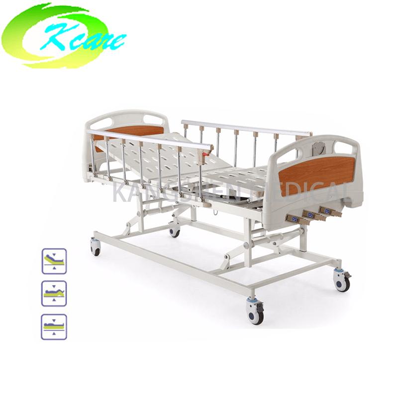 Central Lock Manual 3 Crank Patient Hospital Bed KS-301yh