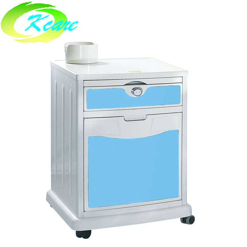 Azure abs hospital bedside cabinet with four wheel KS-C25a