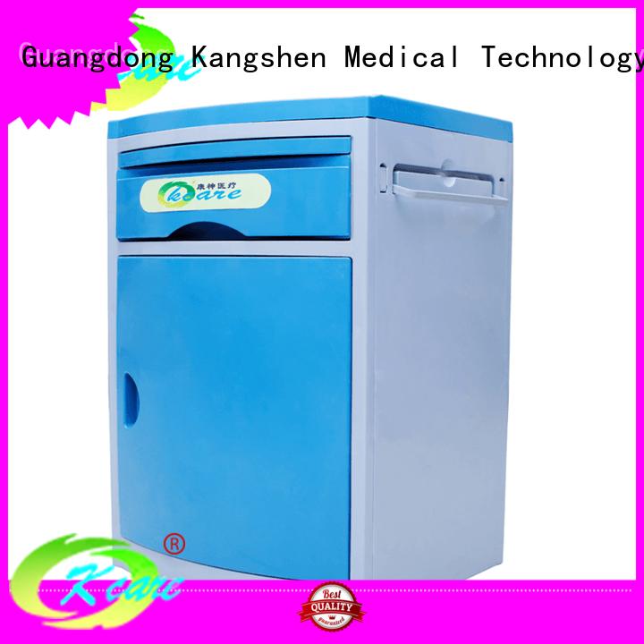 Kangshen Medical Brand hospital bedside abs hospital bedside cabinet manufacture