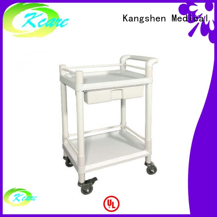 Hot emergency medical trolley with drawers abs trolley Kangshen Medical Brand