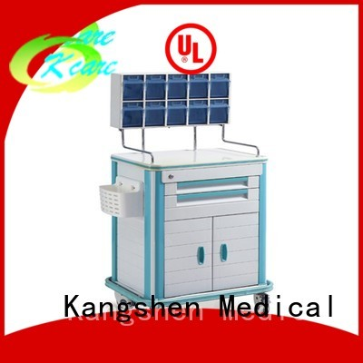 hospital treatment emergency Kangshen Medical Brand medical trolley with drawers supplier