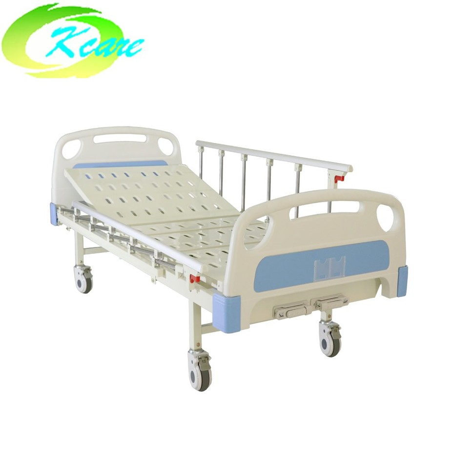 The guide of ABS Two Cranks Manual Hospital Bed with Aluminum Side Rail KS-332b