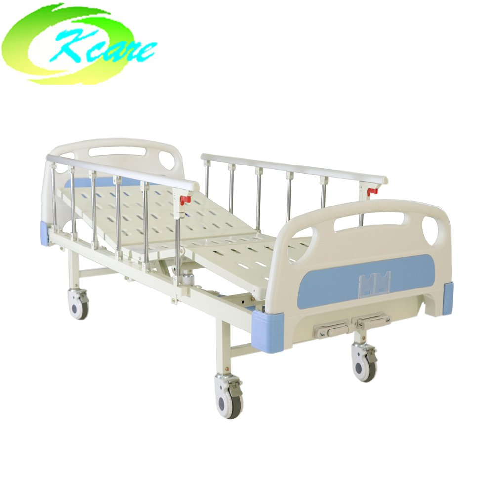 ABS Two Cranks Manual Hospital Bed with Aluminum Side Rail KS-332b