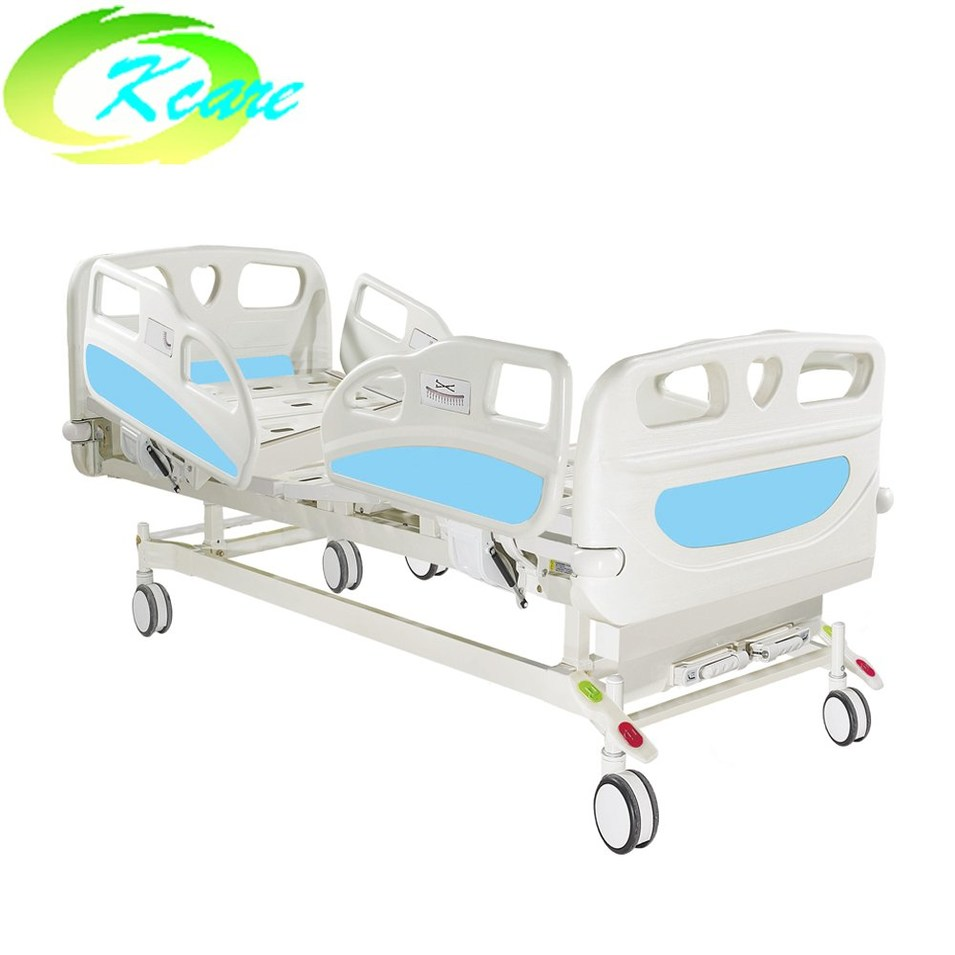 Medical 2 Functions Manual Hospital Bed with PP Side Rail  KS-S208yh