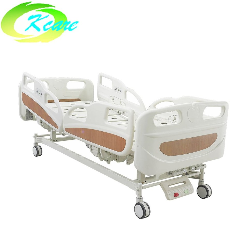 ABS Plastic Headboard Manual Hospital Bed with 2 Shakes KS-S209yh