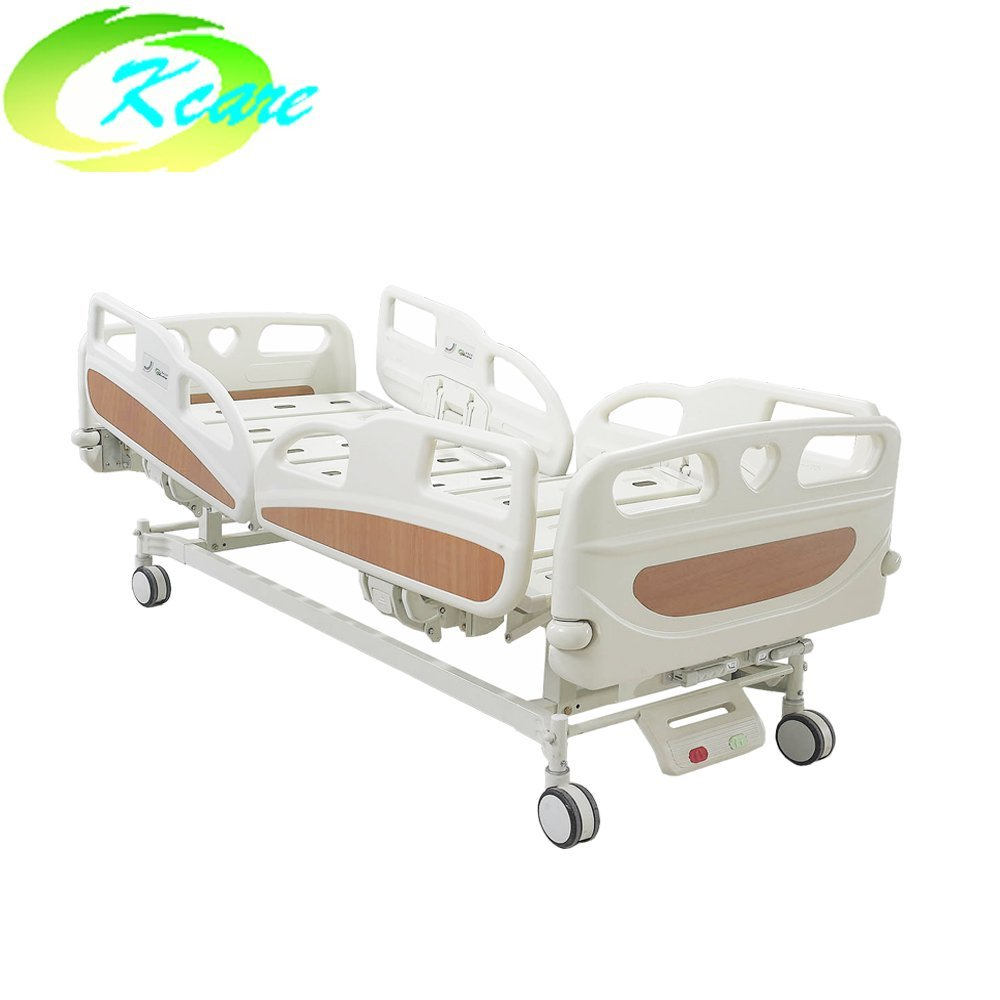 Kangshen Medical Patient Examination ABS Bedboard Vibrating Double Adjustable Manual Hospital Bed KS-S209yh Manual Hospital Bed image87