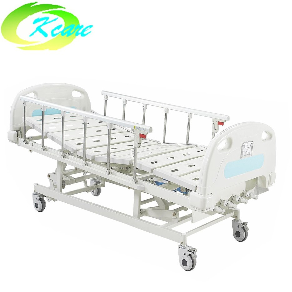 Four Cranks Manual Medical Hospital Bed with 5 Functions KS-S502yh