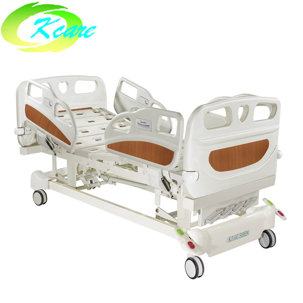 Manual 5 Functions Hospital Bed with Superior Small PP Side Rail & Wheels KS-S501yh