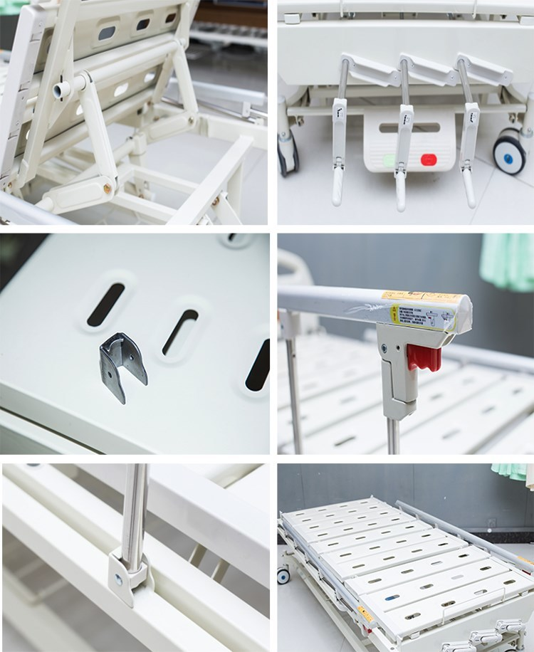 Kangshen Medical Brand backrest castors pp manual hospital bed price