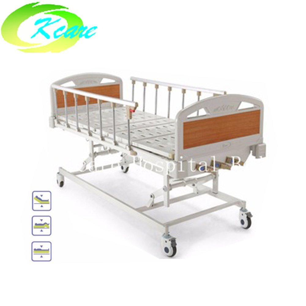Medical Manual Folding Triple-Crank of Metal Material Hospital Bed KS-S301yh