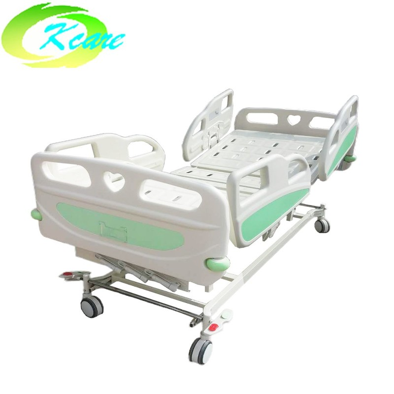 Manual 3 Cranks Vertical Hospital Lift up Bed with PP Side Rail KS-S303yh