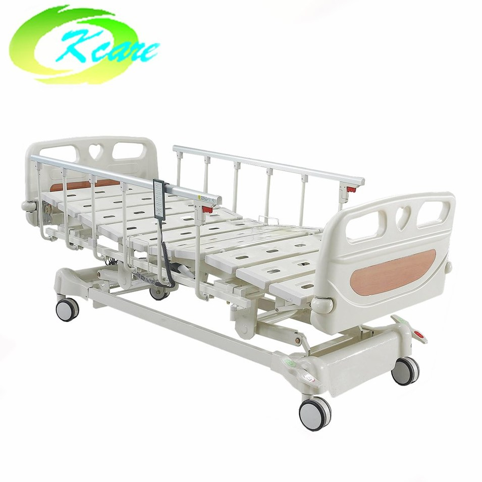 Electric Five Functions Hospital Bed with Aluminum Alloy Side Rail GS-858(C)