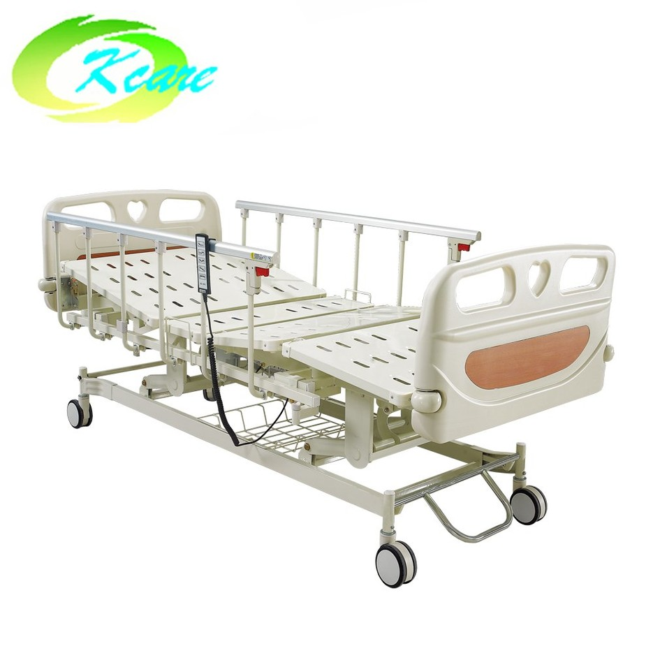 Aluminum Guardrail Electrical Five-Functions Hospital Bed with Central Lock Castor GS-858(C)