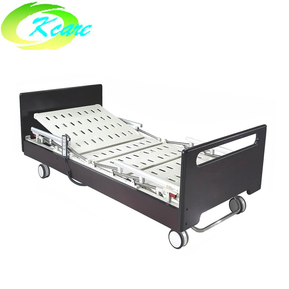 Soild Wooden Frame Electric Three Function Home Care Bed Elderly Nursing Bed GS-806(A)