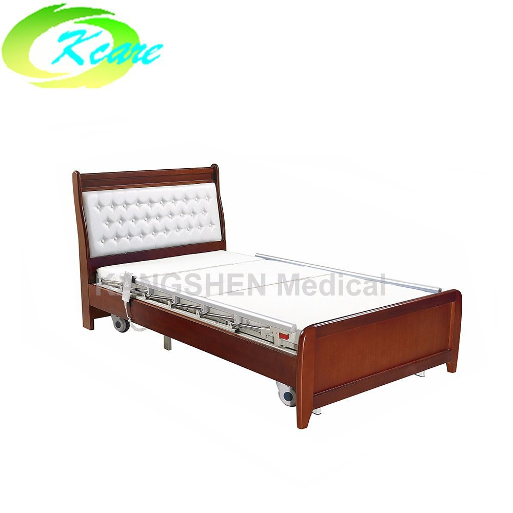 Kangshen Medical Deluxe solid wood frame electric 3 function elderly home care bed GS-806 Home Care Bed image43