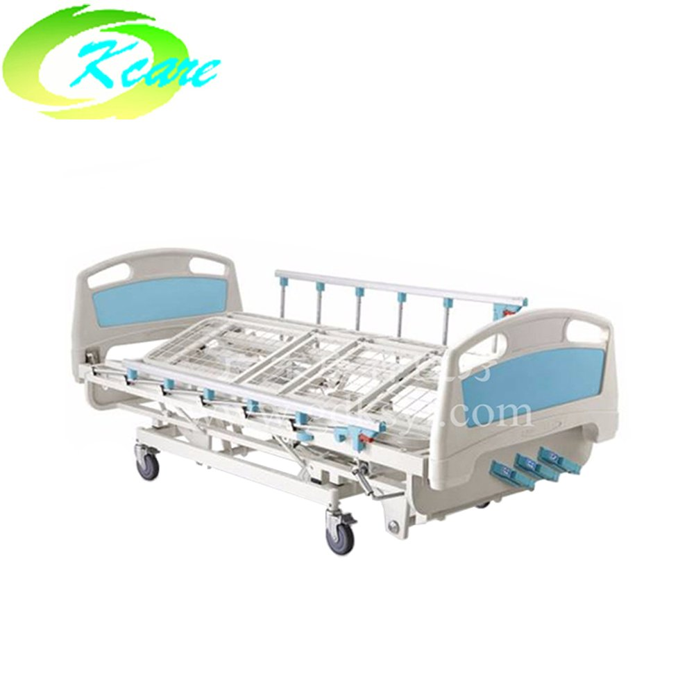 Manual  four crank five function medical hospital rolling care bed for sale KS-1032-3