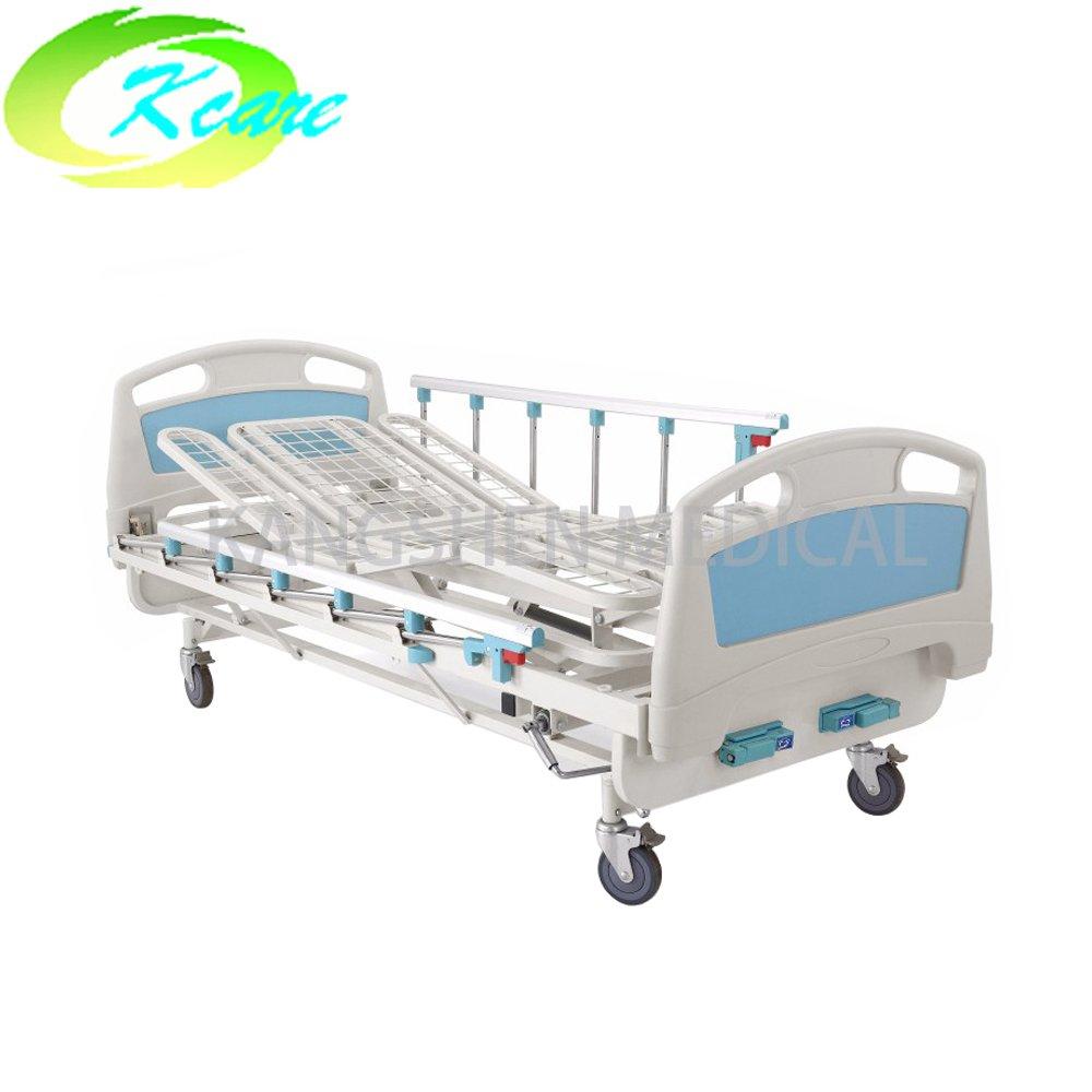 Kangshen Medical Brand operated manual medical manual hospital bed price 125mm