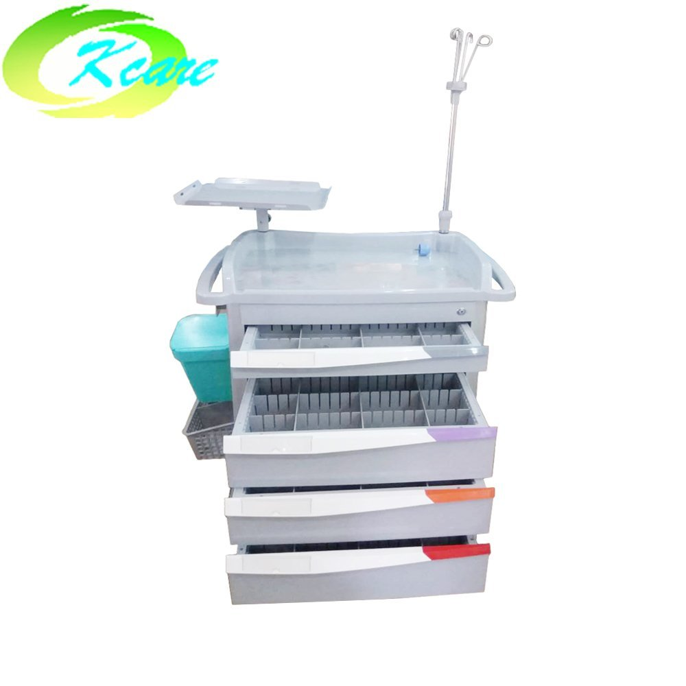 ABS  crash cart medical trolley for hospital /clinic KS-860CH-2