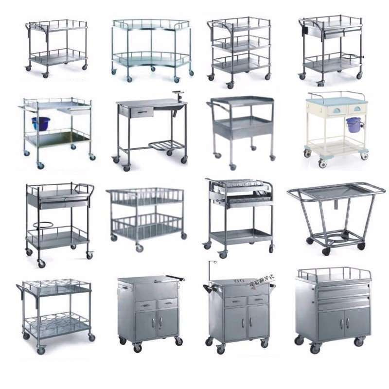 Kangshen Medical Brand drawer single stainless hospital trolley manufacture