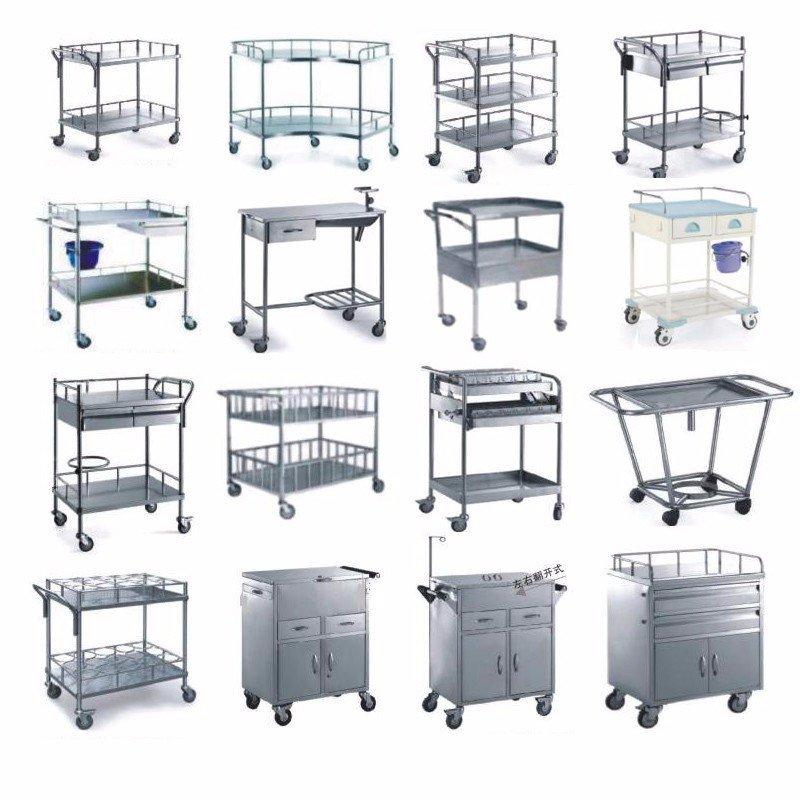 Kangshen Medical Brand scalloped abs&steel hospital trolley single factory