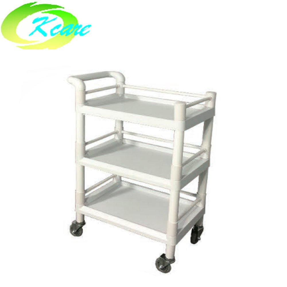 ABS two-shelves hospital instrument trolley with cabinet KS-B14
