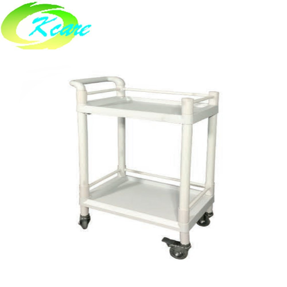 ABS two-shelves hospital instrument emergency trolley KS-B12