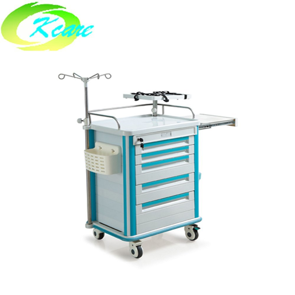 Hospital furniture medical abs emergency trolley  for sale KS-320D