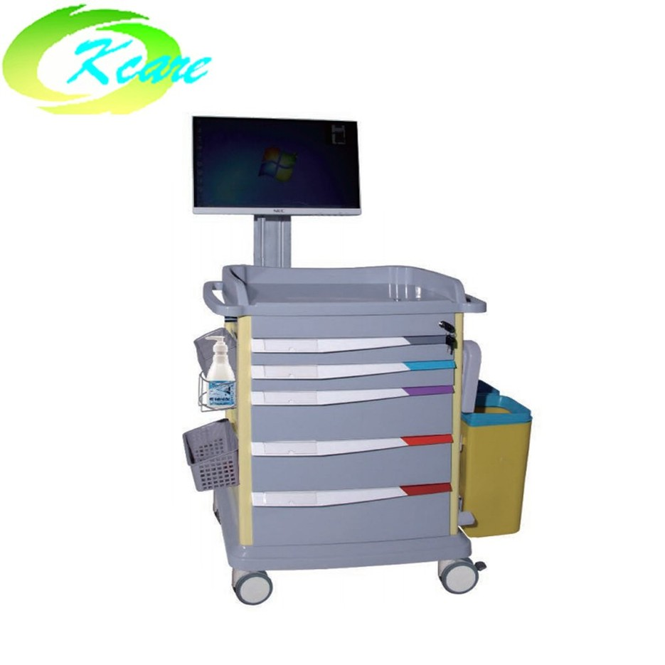 ABS medical equipment computer trolley cart for hospital  KS-550a