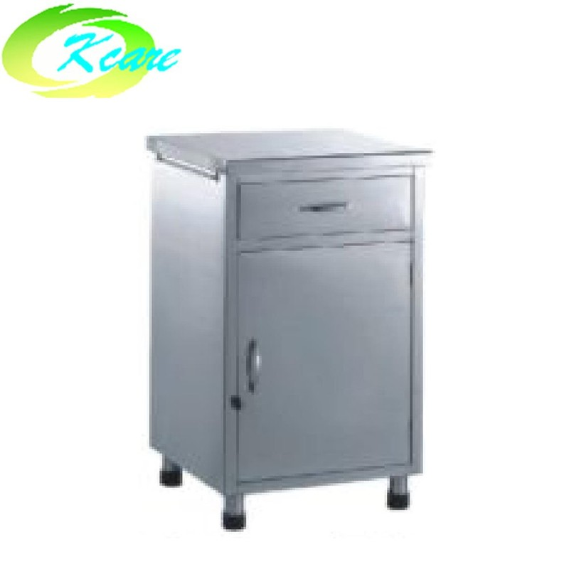 Stainless steel hospital bedside table KS-C28