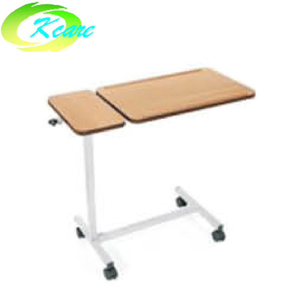 China medical equipment manufacturer folded steel hospital over-bed table KS-D05b
