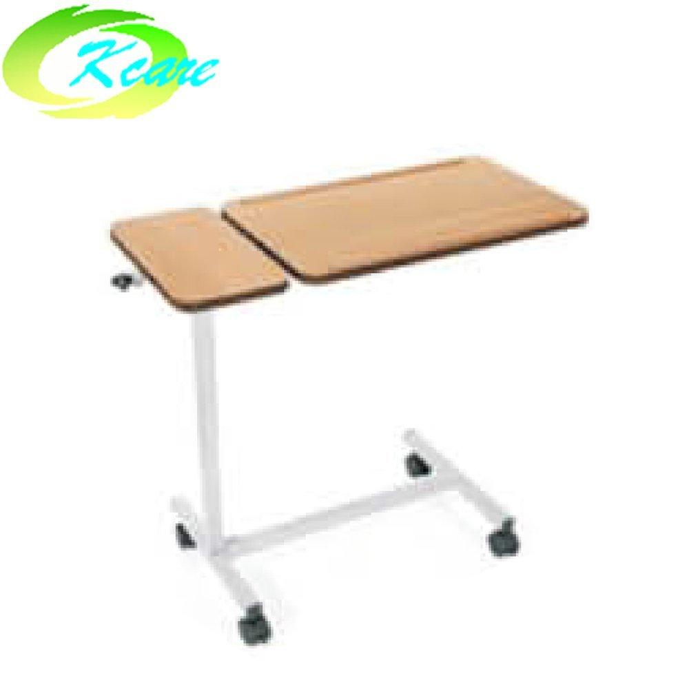 China medical equipment manufacturer folded steel hospital over-bed table KS-D05b