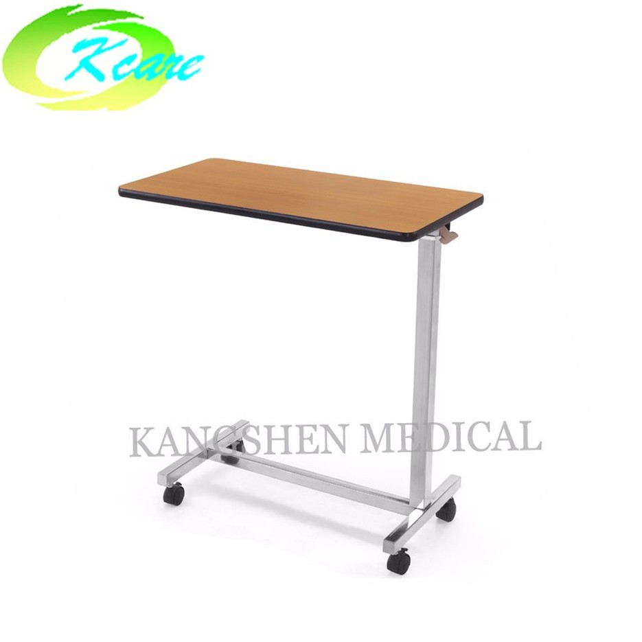 Popular Over Bed Table with wheels and desktop table for hospital bed KS-D05d