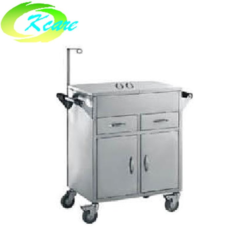 Stainless steel hospital emergency trolley KS-B26