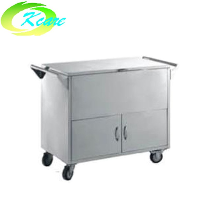 Stainless steel fully enclosed hospital transport cart KS-B33