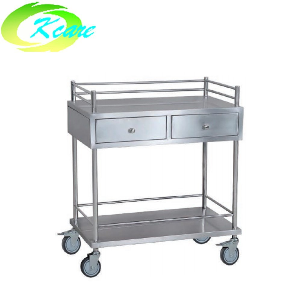 Stainless steel fully enclosed hospital transport cart KS-B33