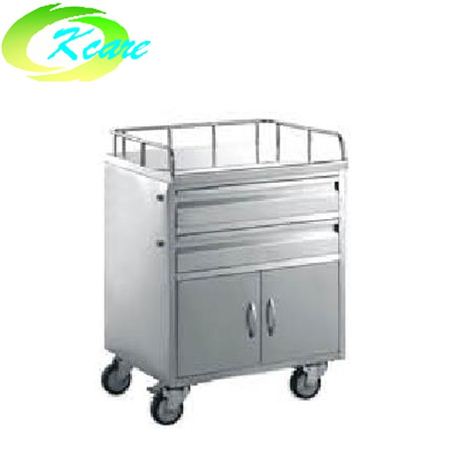 Stainless steel hospital treatment medicine cart KS-B23