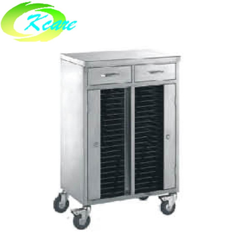 Full stainless steel hospital patient record trolley  KS-C01