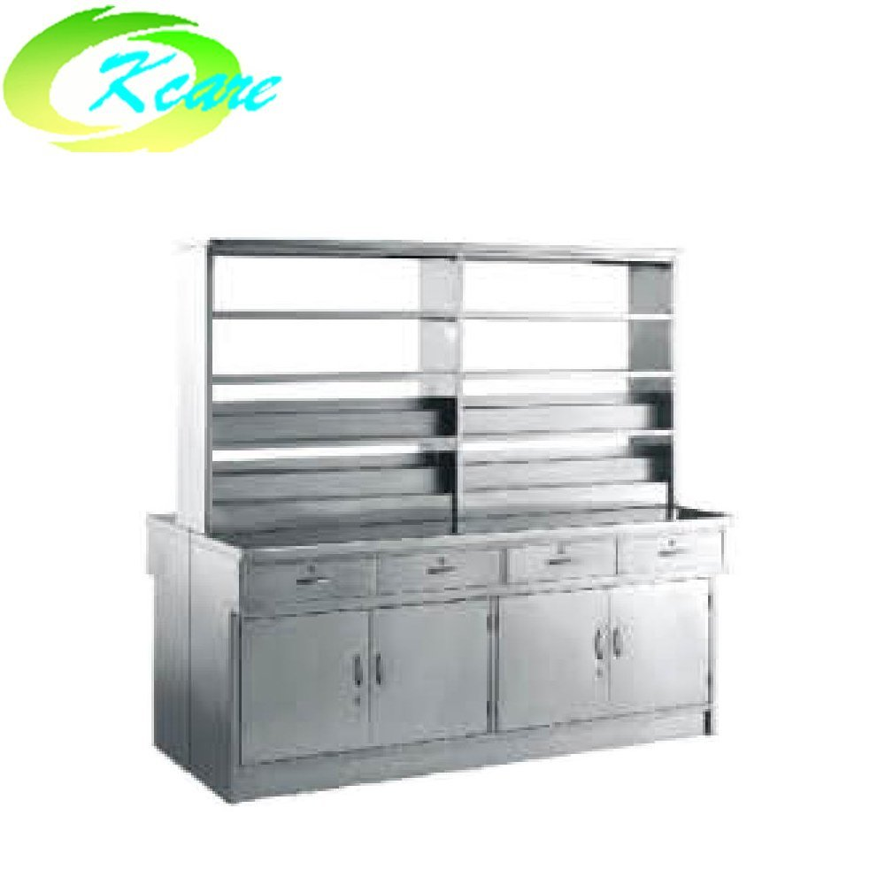 Stainless steel hospital  double-face western medicine cabinet KS-C17a
