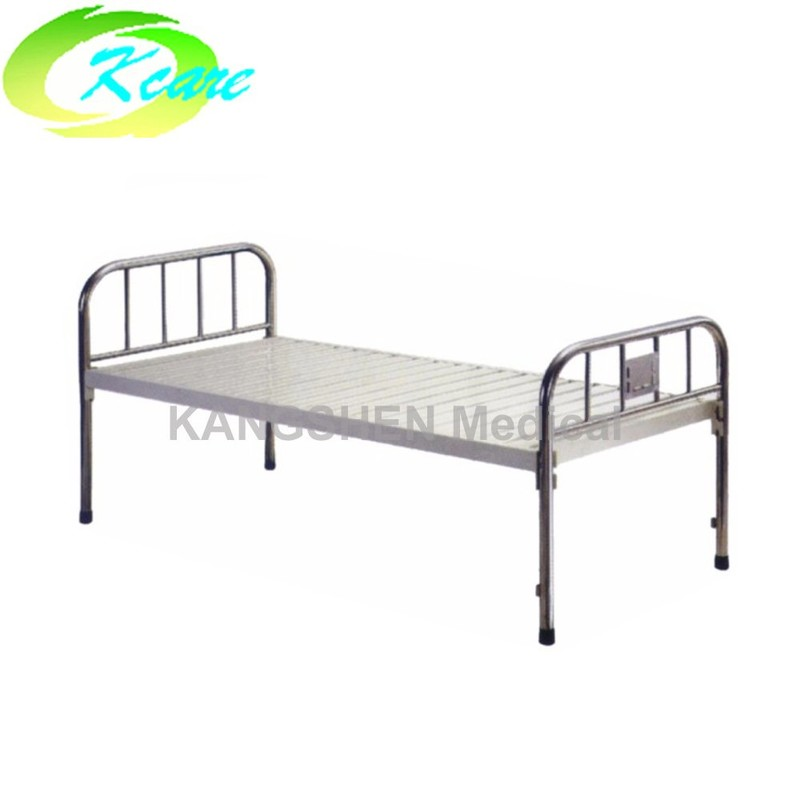 S.S. head and foot board steel hospital flat hospital bed KS-110a