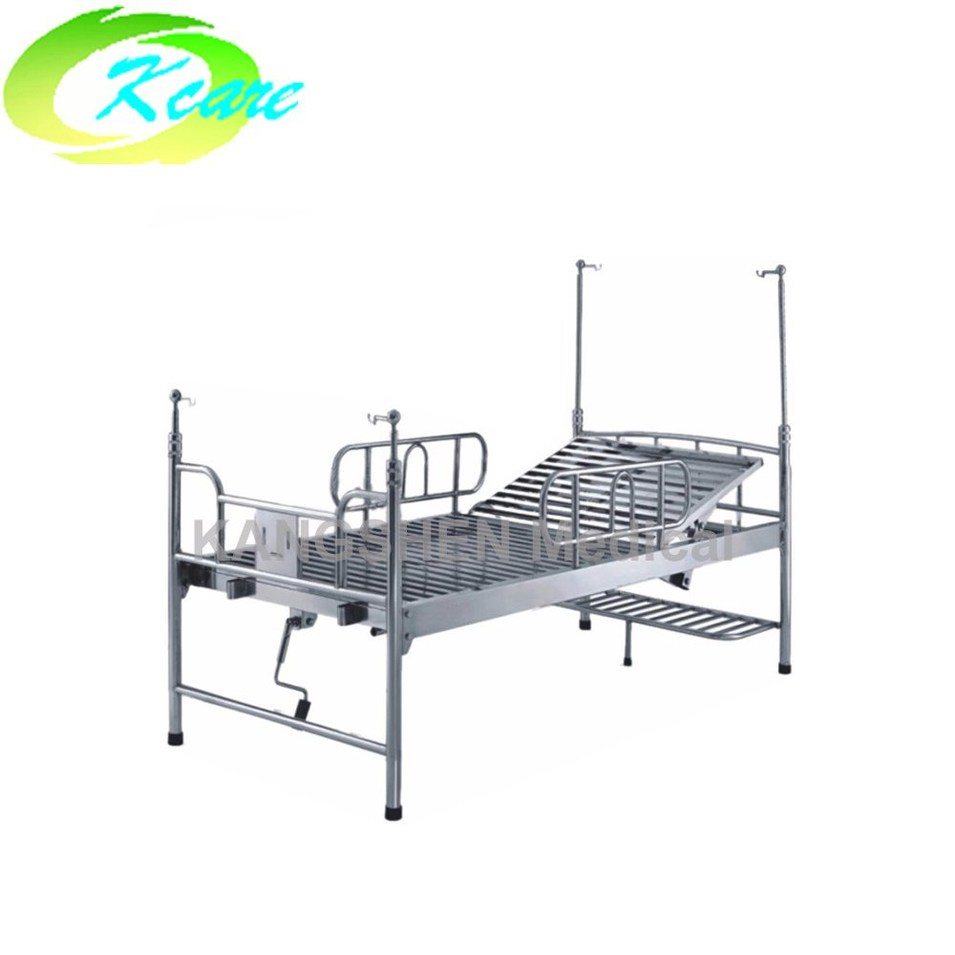 S.S.  adjustable single crank manual hospital bed with KS-213