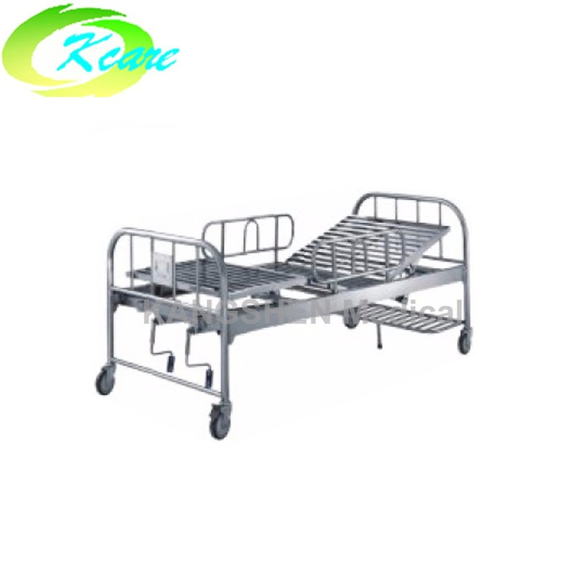 S.S.  adjustable two cranks manual hospital bed  KS-312
