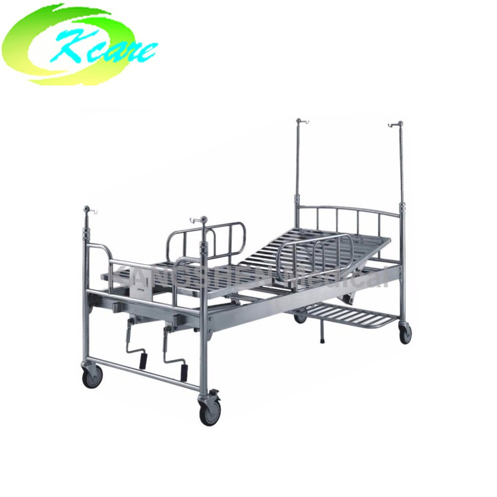 Kangshen Medical S.S.  adjustable medical bed with two cranks KS-322 S.S. Hospital Bed image27
