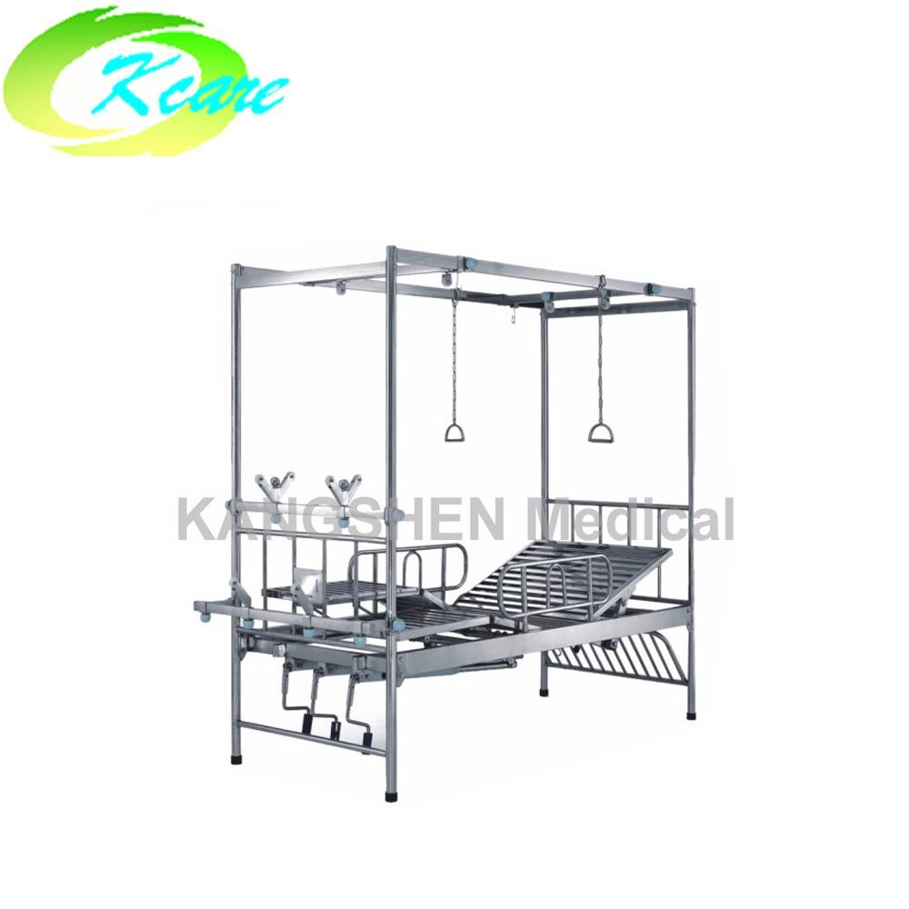 Kangshen Medical S.S.4-crank manual hospital rolling bed KS-1012 S.S. Hospital Bed image22