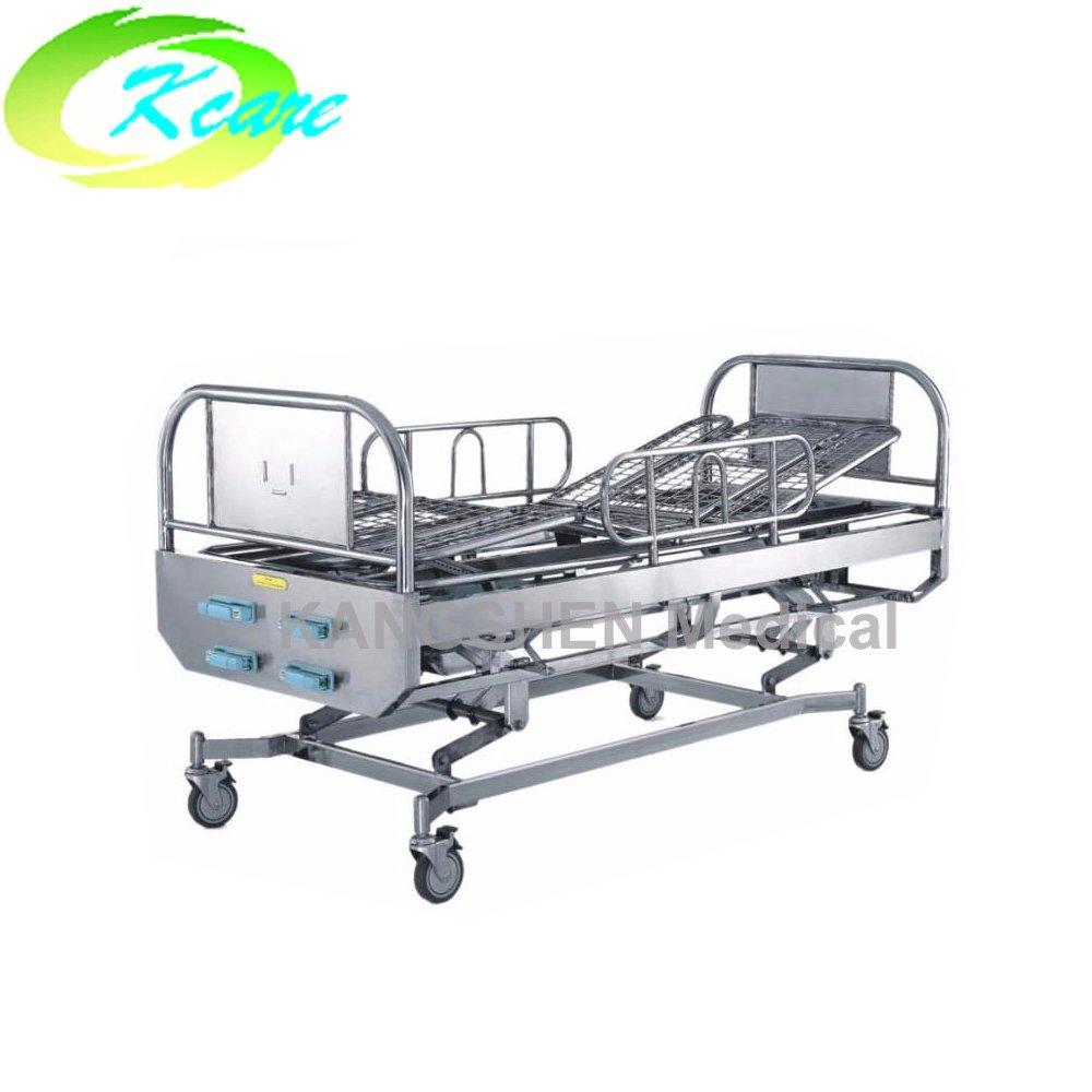 S.S.4-crank manual hospital rolling bed KS-1012