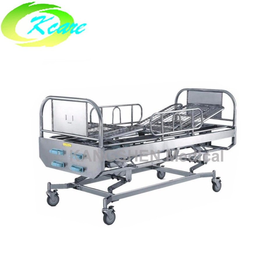 S.S.4-crank manual hospital rolling bed KS-1012