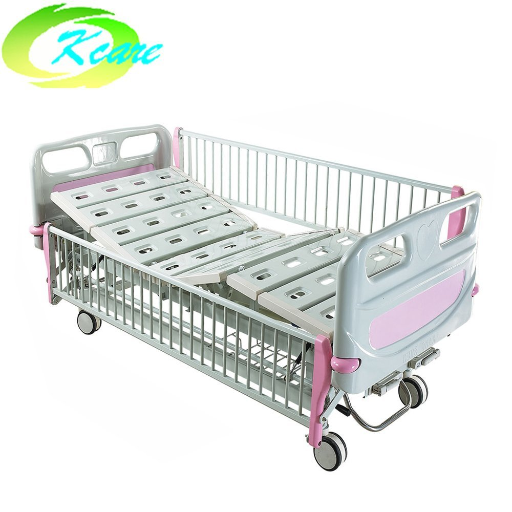 Kangshen Medical Central Lock Castor Manual 2-Cranks Hospital Children Bed KS-S201et Hospital Beds for Children image19