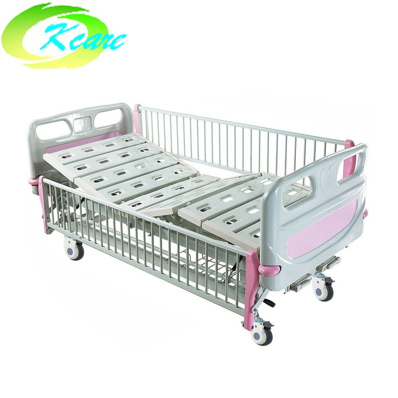 deluxe castor manual 2 cranks hospital children bed ks s201et